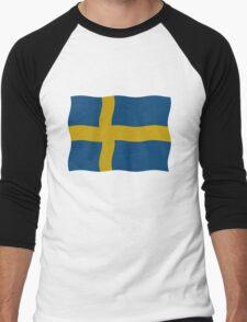 Swedish flag Men's Baseball ¾ T-Shirt