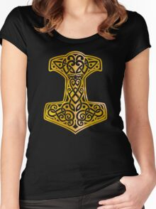 Mjoelnir - The Hammer of Thor 02 Women's Fitted Scoop T-Shirt