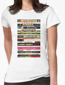 Stereo Stack Shirts & Hoodies Womens Fitted T-Shirt