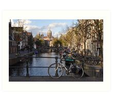 Amsterdam - Typical Amsterdam View Art Print
