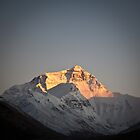 Sunset at Mount Everest by Andrew To