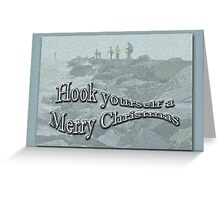 Jetty Fishing Christmas Card Greeting Card