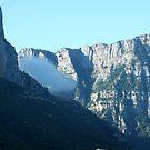Cloud passing by Timfis mountains near Papigo, Zagoria Greece by Ilan Cohen