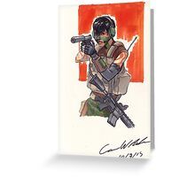 Espionage Girl Greeting Card