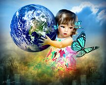 Little Girl saving the world by Svetlana Sewell