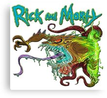 rick and morty monster  Canvas Print