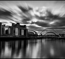 Newcastle/Gateshead Quayside Mono Long Exposure by Philip  Whittaker