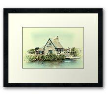 Lock Keepers Cottage Framed Print