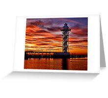 Sunset at Dobbins Landing Greeting Card