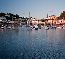 Torquay sunset by Lissywitch