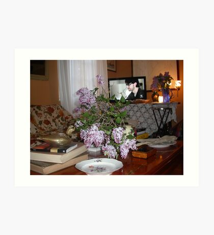 UN TAVOLINO e le serenelle ..2500 VISUALIZZAZ-- 2013..FEATURED RB EXPLORE 13 NOVEMBRE 2011 :::: .... Art Print