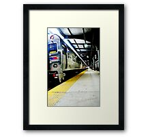 train to nowhere..or the next stop Framed Print