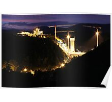 Cotter Dam Enlargement (by night) Poster