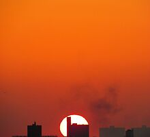 November sunset, New York City  by Alberto  DeJesus