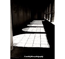 Shadows of a Colonnade Photographic Print