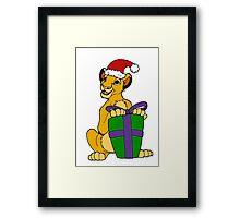 Simba Christmas 2011 Framed Print