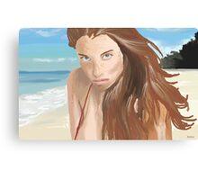 Amit Freidman Model painting Canvas Print