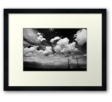 monochrome nature Framed Print