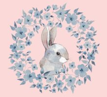 Rabbit and floral wreath Kids Clothes