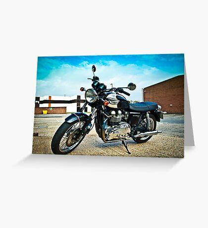 2005 Triumph Bonneville T100 Greeting Card