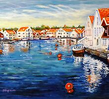 Skudeneshavn Norway by AnfinsenArt