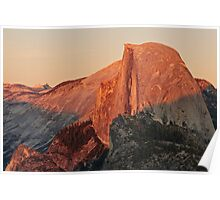 Half Dome Sunset Poster