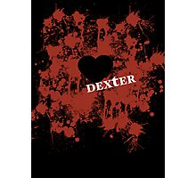 Dexter - love blood splatter Photographic Print