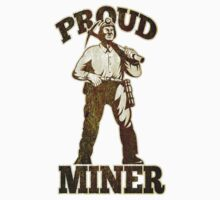 coal miner pick axe shovel retro T-Shirt