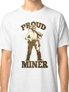 coal miner pick axe shovel retro Classic T-Shirt