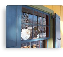 Tinshop's window into the past Canvas Print