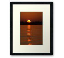 Trailing Sun Framed Print