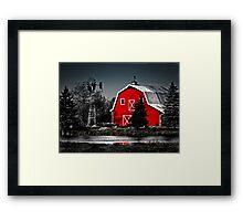 Vibrant Red Barn  Framed Print