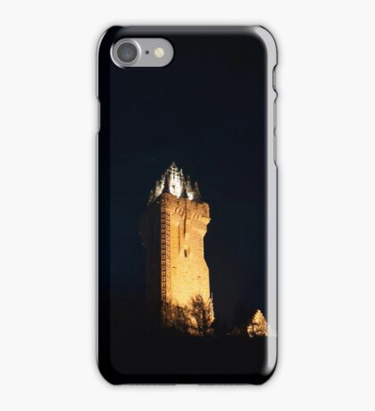 Wallace Monument at night iPhone Case/Skin