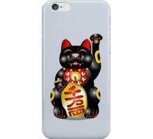 Money Cat Black iPhone Case/Skin