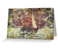 Sailing Lake Michigan Greeting Card