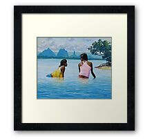 In Conversation Framed Print