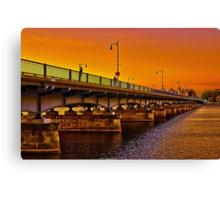 Sunset over Harvard Bridge Canvas Print