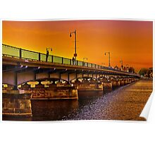 Sunset over Harvard Bridge Poster