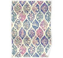Patterned & Painted Floral Ogee in Vintage Tones Poster