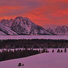 Grand Teton Winter Dusk by Stephen Vecchiotti