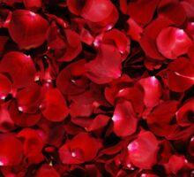 Red Rose Petals Sticker