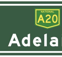 Adelaide, Road Sign, Australia Sticker