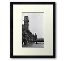 Thermometer Tower Framed Print