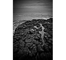 Basalt formations at Don Headlands Photographic Print