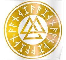 Protection Runes - Walknut Poster