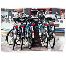Dutch Bicycles Poster