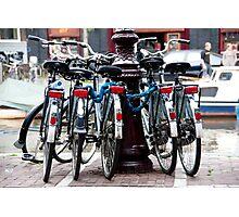 Dutch Bicycles Photographic Print