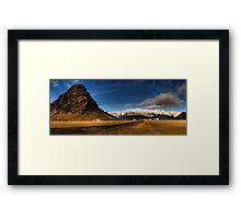 Beneath Sleeping Giants - Þorvaldseyri, Iceland Framed Print