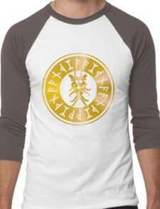 Protection Runes - Odins Mask Men's Baseball ¾ T-Shirt