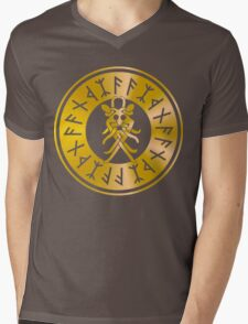 Protection Runes - Odins Mask Mens V-Neck T-Shirt